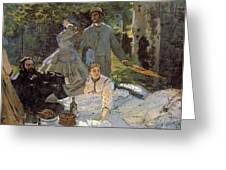 Luncheon On The Grass, Centre Panel Greeting Card