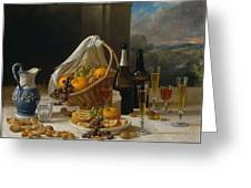 Luncheon Still Life, At And By John F. Francis Greeting Card