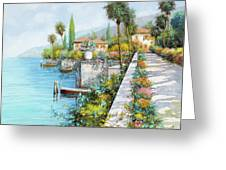 Lungolago Greeting Card by Guido Borelli