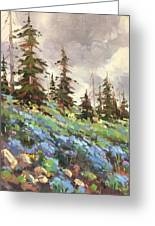 Lupines And Bluebells Greeting Card