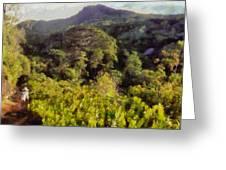 Lush Greenery While Trekking Greeting Card