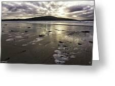 Luskentyre Beach Sunset Greeting Card