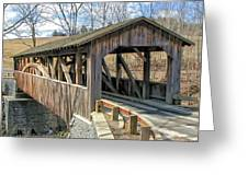 Luther Mills Bridge Greeting Card