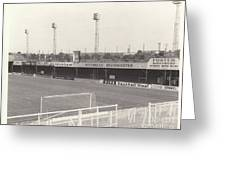 Luton Town - Kenilworth Road - Bobbers Stand West Side 1 - Bw - August 1969 Greeting Card