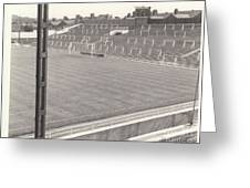 Luton Town - Kenilworth Road - Kenilworth Terrace North Goal 1 - Bw - August 1969 Greeting Card