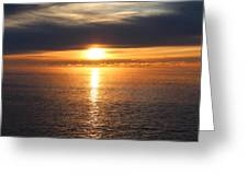 Lutsen Shore Sunrise Two Greeting Card