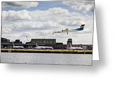 Lux Air London City Airport Greeting Card