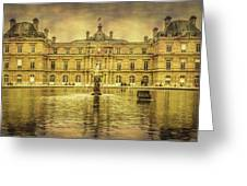 Luxembourg Palace Paris Greeting Card