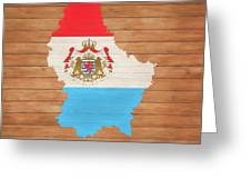 Luxembourg Rustic Map On Wood Greeting Card