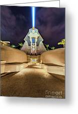Luxor Casino Egyptian Sphinx Las Vegas Night Greeting Card