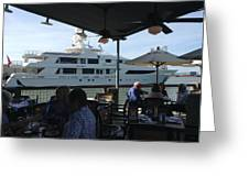 Luxurious Boat In Galveston  Greeting Card