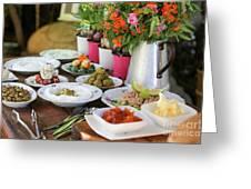 Luxurious Breakfast Buffet  Greeting Card