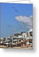Luxury Beach Houses Malibu Greeting Card