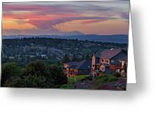 Luxury Homes In Happy Valley Oregon Greeting Card