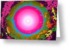 Luxury-pink-magic Greeting Card