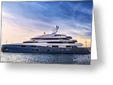 Luxury Yacht Greeting Card