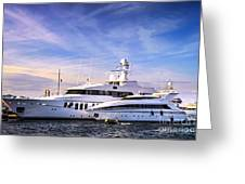 Luxury Yachts Greeting Card