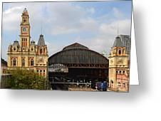 Luz Station In Sao Paulo - Brasil. Greeting Card