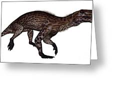 Lycaenops Dinosaur Walking, White Greeting Card