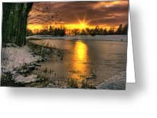 Lydiard Sunset Greeting Card