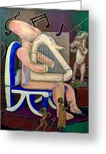 Lyre Player-1 Greeting Card