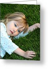 Lying In The Grass Greeting Card