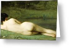 Lying Nude Greeting Card