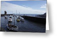 Lynmouth Harbour Greeting Card