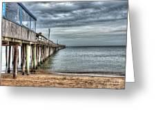 Lynnhaven Fishing Pier, Ocean Side Greeting Card