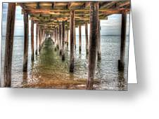 Lynnhaven Fishing Pier, Pillars To The Sea Greeting Card