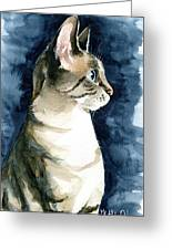 Lynx Point Cat Portrait Greeting Card