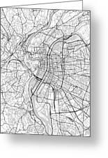 Lyon France Light Map Greeting Card