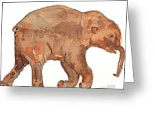 Lyuba The Ice Baby Mammoth  Greeting Card