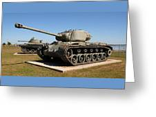 M-26 Pershing Tank Greeting Card