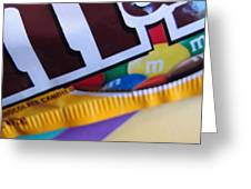 M And M Candy Greeting Card