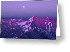 M05413 Moonrise Over Broken Top Greeting Card