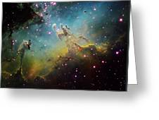 M16 The Eagle Nebula Greeting Card by Ken Crawford