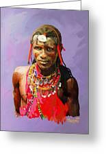 Maasai Moran Greeting Card