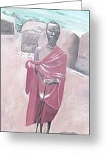Maasai Tribesman Greeting Card