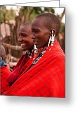 Maasai Women Greeting Card