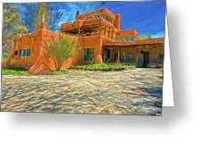 Mabel Dodge Luhan House As Oil Greeting Card