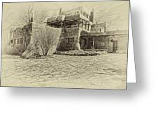 Mabel's House As Antique Print Greeting Card