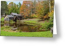 Mabry Mill In Fall 1 Greeting Card