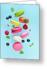 Falling In Love With Macaroons  Greeting Card