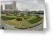 Macau Triptych 3 Greeting Card