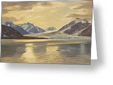 Macco, Georg 1863 Aachen - 1933   Glacier On Spitsbergen Greeting Card
