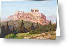 Macco, Georg 1863 Aachen - 1933   The Acropolis Of Athens. Greeting Card