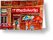 Macdohertys Icecream Parlor Greeting Card