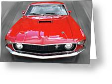 Mach1 Mustang 1969 Head On Greeting Card
