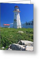 Machias Seal Island Lighthouse Puffins Greeting Card